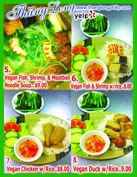 Vegan Menu 2013 English Back